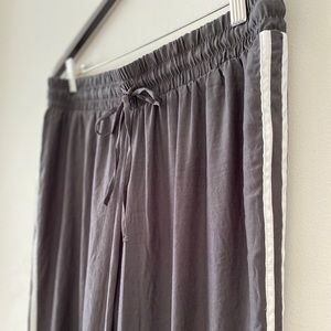 American Eagle Outfitters Silky Grey Track Pants